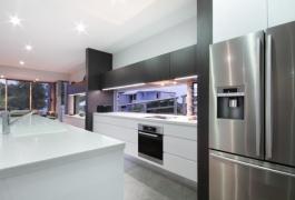 18. Streamlined, sleek Kitchen