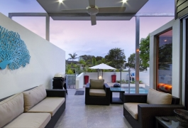 9. Outdoor Living and pool view to the North